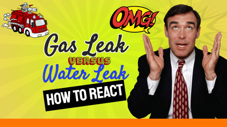Boiler Leaking? Featured Text asks: Gas Leak vs Water Leak - How to React!